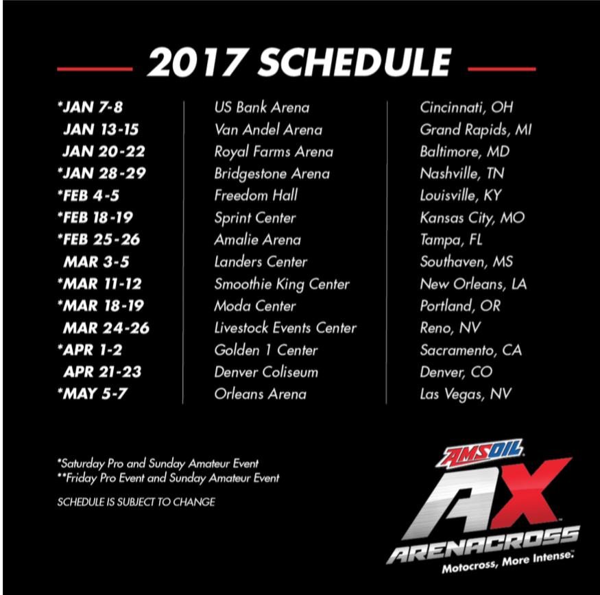 2017 AX Schedule
